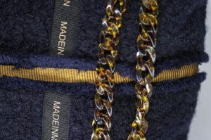 Grand Cabas En Bouclette Bleu Marine Modèle Albertine