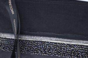Grande Pochette En Coton Bio Noire Modèle Simonette