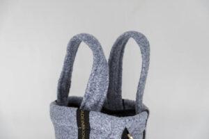 Mini Bag En Flanelle Bleu Ciel Modèle Jules