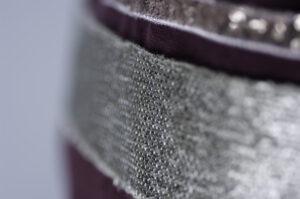 Cabas Moyen En Toile De Coton Délavé Bordeaux Modèle Thérèse
