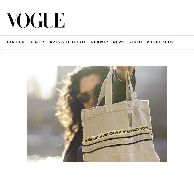 Made In Moon Dans British Vogue