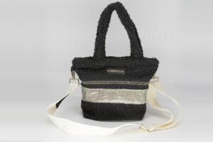Mini Bag En Bouclette Noire Modèle Cendrillon
