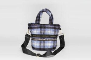 Mini Bag En Carreaux Bleu Modèle Charline