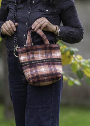 Mini Bag En Carreaux Rouge Modèle Léonardine