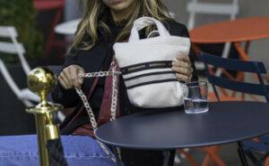 Mini Bag En Flanelle Blanc Cassé Modèle Octave